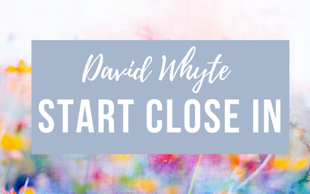 Start Close In by David Whyte